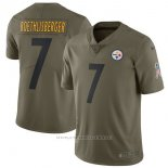 Camiseta NFL Limited Nino Pittsburgh Steelers Pittsburgh Steelers 7 Roethlisberger 2017 Salute To Service Verde