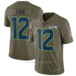 Camiseta NFL Limited Nino Seattle Seahawks 12 Fan 2017 Salute To Service Verde