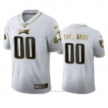 Camiseta NFL Limited Philadelphia Eagles Personalizada Golden Edition Blanco