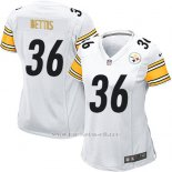 Camiseta Pittsburgh Steelers Bettis Blanco Nike Game NFL Mujer