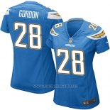 Camiseta San Diego Chargers Gordon Azul Nike Game NFL Mujer