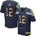 Camiseta Seattle Seahawks Fan Profundo Azul Nike Gold Elite NFL Hombre