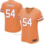 Camiseta Tampa Bay Buccaneers David Naranja Nike Game NFL Mujer