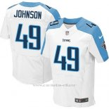 Camiseta Tennessee Titans Johnson Blanco Nike Elite NFL Hombre2