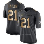 Camiseta Washington Redskins Taylor Negro 2016 Nike Gold Anthracite Salute To Service NFL Hombre