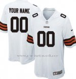Camisetas NFL Limited Cleveland Browns Personalizada Blanco
