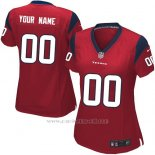Camisetas NFL Replica Mujer Houston Texans Personalizada Rojo