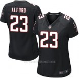 Camiseta Atlanta Falcons Alford Negro Nike Game NFL Mujer