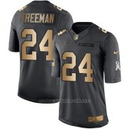 Camiseta Atlanta Falcons Freeman Negro 2016 Nike Gold Anthracite Salute To Service NFL Hombre