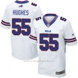 Camiseta Buffalo Bills Hughes Blanco Nike Elite NFL Hombre