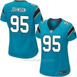 Camiseta Carolina Panthers Johnson Lago Azul Nike Game NFL Mujer