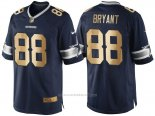 Camiseta Dallas Cowboys Bryant Profundo Azul Nike Gold Game NFL Hombre