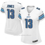 Camiseta Detroit Lions Jones Blanco Nike Game NFL Mujer