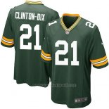 Camiseta Green Bay Packers Clinton Dix Verde Nike Game NFL Militar Hombre