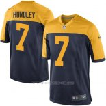 Camiseta Green Bay Packers Hundley Negro Amarillo Nike Game NFL Nino