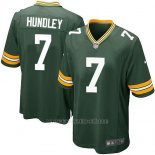 Camiseta Green Bay Packers Hundley Verde Militar Nike Game NFL Nino
