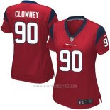 Camiseta Houston Texans Clowney Rojo Nike Game NFL Mujer