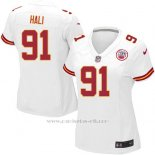 Camiseta Kansas City Chiefs Hali Blanco Nike Game NFL Mujer