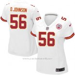 Camiseta Kansas City Chiefs Johnson Blanco Nike Game NFL Mujer