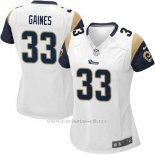Camiseta Los Angeles Rams Gaines Blanco Nike Game NFL Mujer