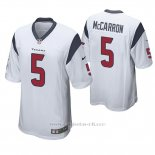 Camiseta NFL Game Hombre Houston Texans Aj Mccarron Blanco