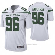 Camiseta NFL Game Hombre New York Jets Henry Anderson Blanco 60th Aniversario