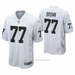 Camiseta NFL Game Hombre Oakland Raiders Trent Brown Blanco
