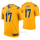 Camiseta NFL Legend Hombre San Diego Chargers 17 Philip Rivers Inverted Oro