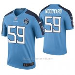 Camiseta NFL Legend Hombre Tennessee Titans Wesley Woodyard Azul 20th Anniversary Color Rush