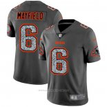 Camiseta NFL Limited Cleveland Browns Mayfield Static Fashion Gris