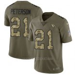 Camiseta NFL Limited Hombre Arizona Cardinals 21 Patrick Peterson Stitched 2017 Salute To Service