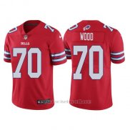 Camiseta NFL Limited Hombre Buffalo Bills Eric Wood Rojo Color Rush