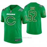 Camiseta NFL Limited Hombre Chicago Bears Khalil Mack St. Patrick's Day Verde