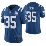 Camiseta NFL Limited Hombre Indianapolis Colts Pierre Desir Azul 35th Anniversary Vapor Untouchable