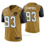 Camiseta NFL Limited Hombre Jacksonville Jaguars Calais Campbell Oro Color Rush