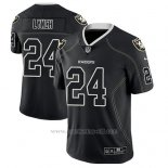 Camiseta NFL Limited Hombre Oakland Raiders Marshawn Lynch Negro Color Rush 2018 Lights Out