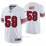 Camiseta NFL Limited Hombre San Francisco 49ers David Mayo Blanco Color Rush