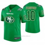Camiseta NFL Limited Hombre San Francisco 49ers Jimmy Garoppolo St. Patrick's Day Verde
