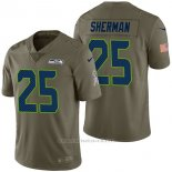 Camiseta NFL Limited Hombre Seattle Seahawks 25 Richard Sherman 2017 Salute To Service Verde