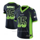 Camiseta NFL Limited Hombre Seattle Seahawks Brandon Marshall Azul 2018 Drift Fashion Color Rush