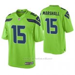 Camiseta NFL Limited Hombre Seattle Seahawks Brandon Marshall Verde Color Rush