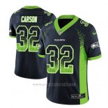 Camiseta NFL Limited Hombre Seattle Seahawks Chris Carson Azul 2018 Drift Fashion Color Rush
