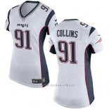 Camiseta New England Patriots Collins Blanco Nike Game NFL Mujer
