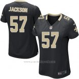 Camiseta New Orleans Saints Jackson Negro Nike Game NFL Mujer