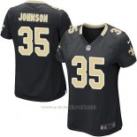 Camiseta New Orleans Saints Johnson Negro Nike Game NFL Mujer