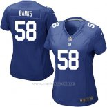 Camiseta New York Giants Banks Azul Nike Game NFL Mujer