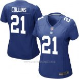 Camiseta New York Giants Collins Azul Nike Game NFL Mujer