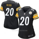 Camiseta Pittsburgh Steelers Bleier Negro Nike Game NFL Mujer