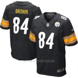 Camiseta Pittsburgh Steelers Brown Negro Nike Elite NFL Hombre