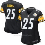Camiseta Pittsburgh Steelers Burns Negro Nike Game NFL Mujer